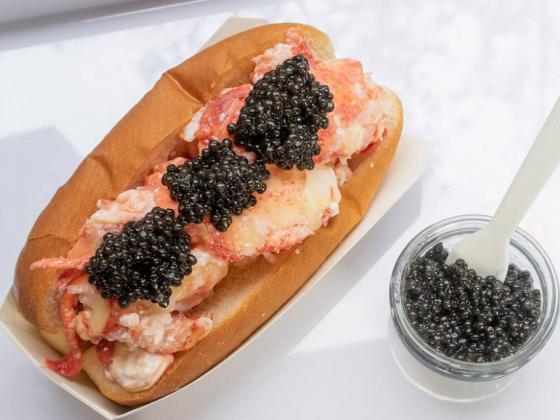 Luke's Lobster in Las Vegas offers special caviar lobster roll