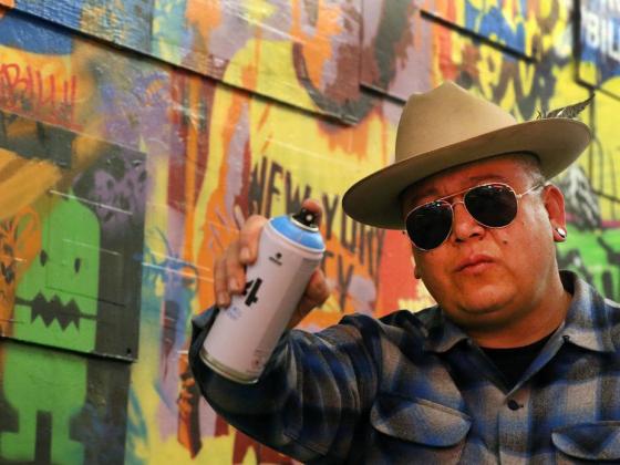 Street artist completes mural in Las Vegas Strip casino