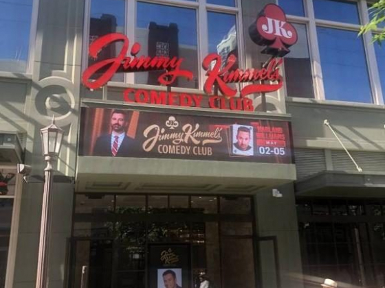 Jimmy Kimmel takes the stage in his club opening on the Strip