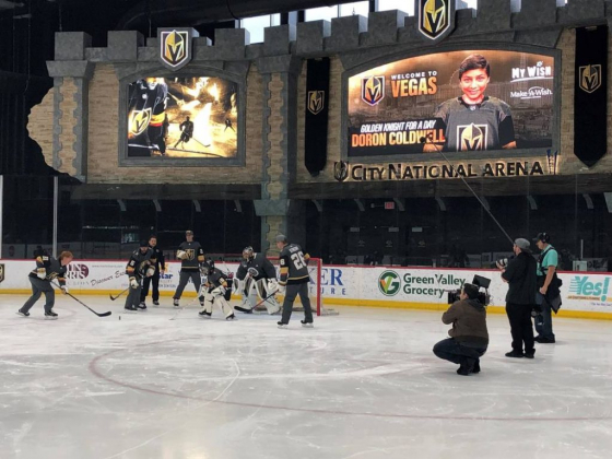 Watch ESPN's 'My Wish' segment featuring Golden Knights