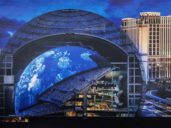 Get a first look of MSG Sphere construction in Las Vegas