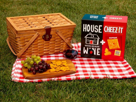 Cheez-It crackers, House Wine match made in picnic heaven