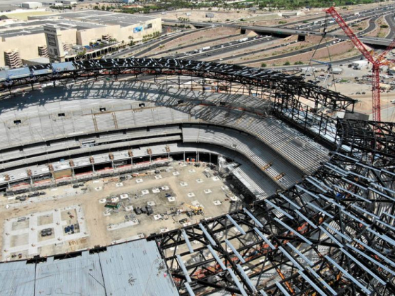 Raiders, builders set topping out ceremony at Las Vegas Stadium