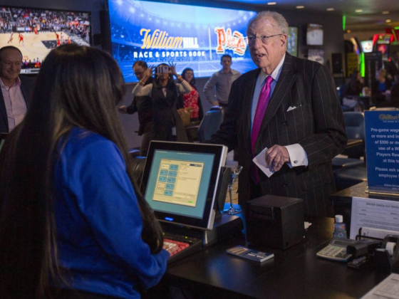 Downtown Las Vegas hotel-casino shows off renovated sportsbook