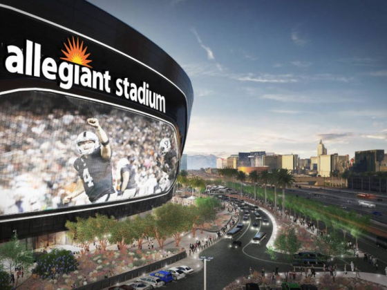 Allegiant Stadium video screen to be among largest in Las Vegas