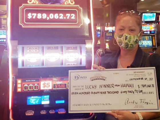 Woman hits $789K jackpot, then wins another $5K at downtown casino
