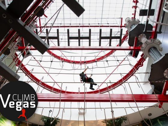Climbing enthusiasts find adventure at new indoor ropes course