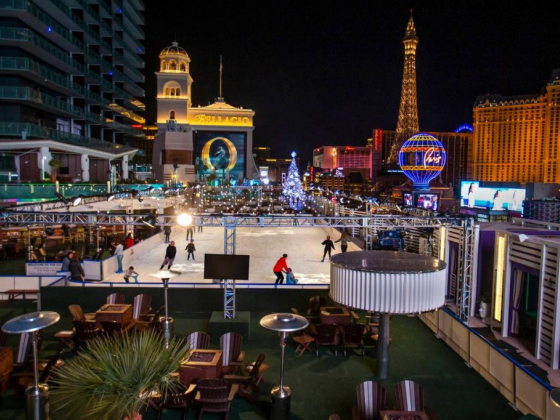 Ice skating rink, holiday movies return to Cosmopolitan