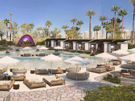 Virgin Hotels Las Vegas offers details on 'desert oasis' pool complex