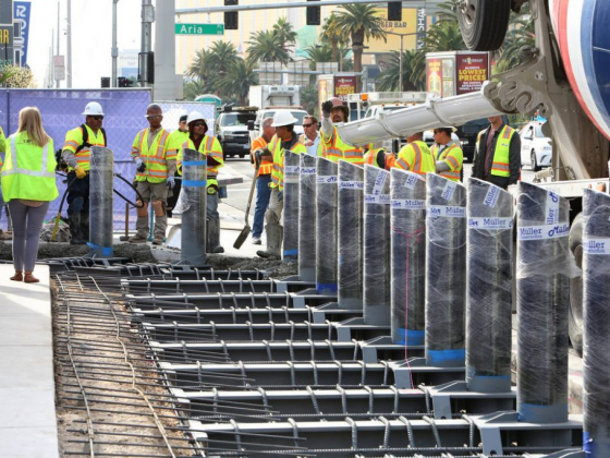 First wave of safety posts installed along Las Vegas Strip