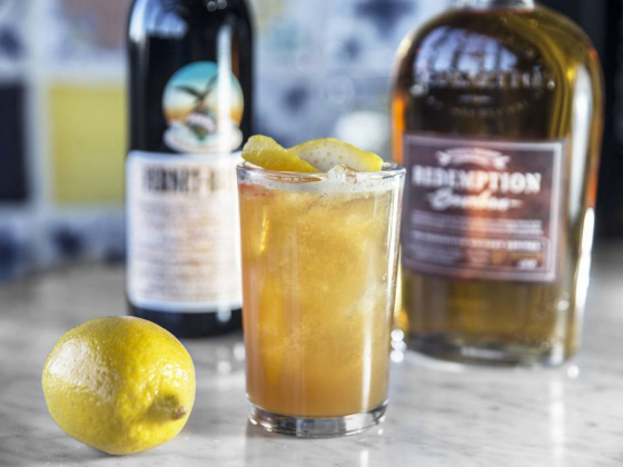 Cocktail at new North Italia blends honey, Fernet Blanca