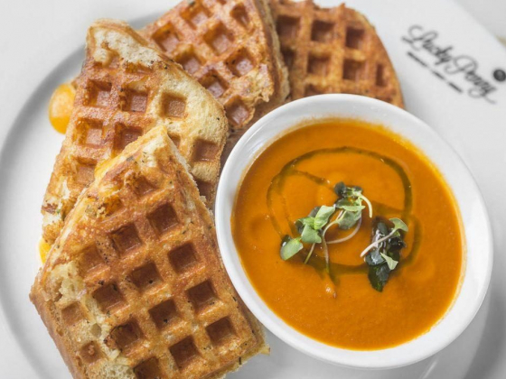 Lucky Penny wows with waffle grilled cheese, machacha hash