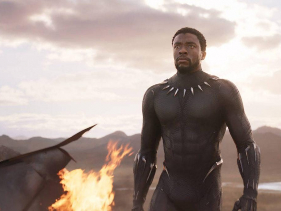 Las Vegas theater showing 'Black Panther' on 270-degree screen